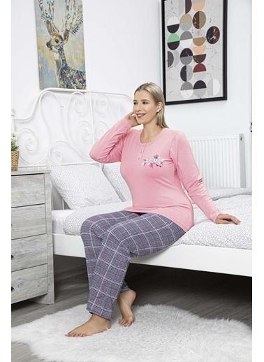Aydoğan Kadın Modal Battal Boy Pijama Takımı Renkli